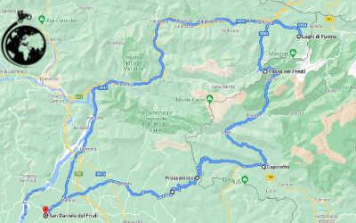itinerario in moto Laghi Fusin e Passo Predil