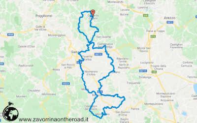 Itinerario in moto de L'Eroica
